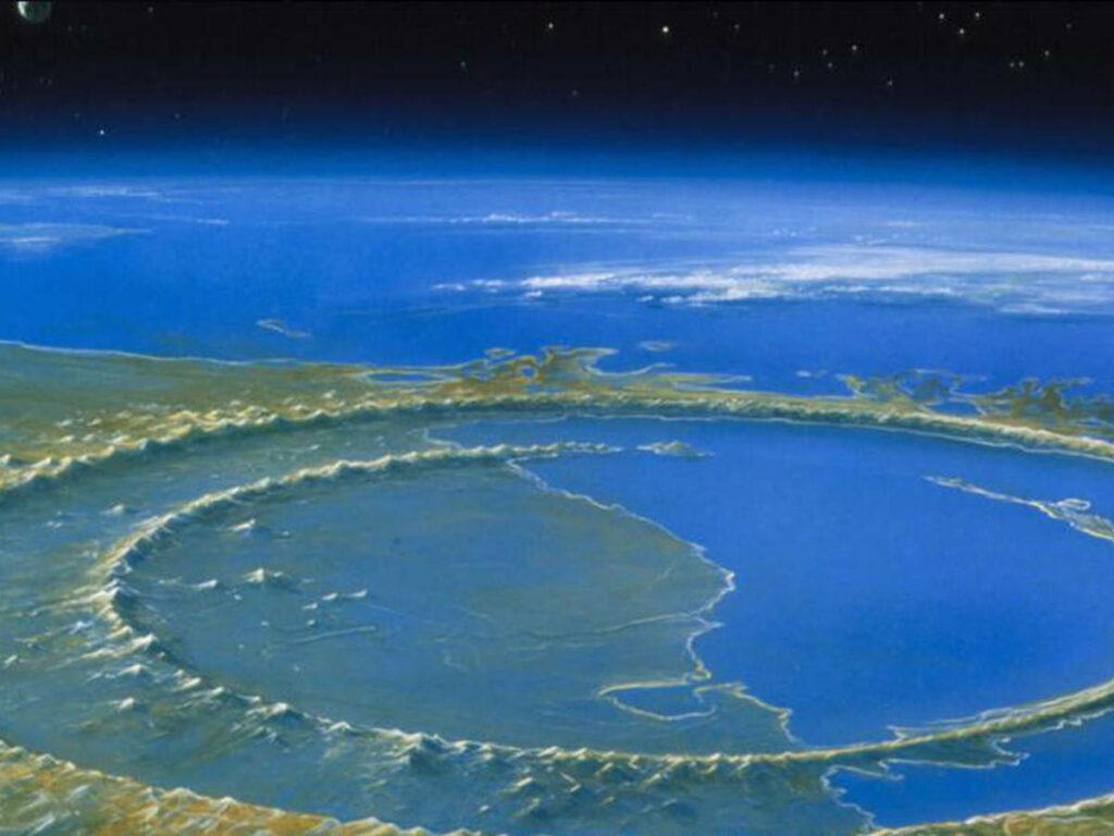 Cráter Chicxulub de la desaparición de los dinosaurios