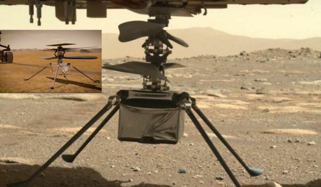 El Minihelicoptero Ingenuity de la NASA se separó del Perseverance
