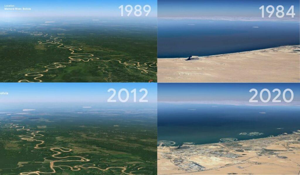 Google Earth lanza Timelapse para ver el cambio del planeta en 37 años
