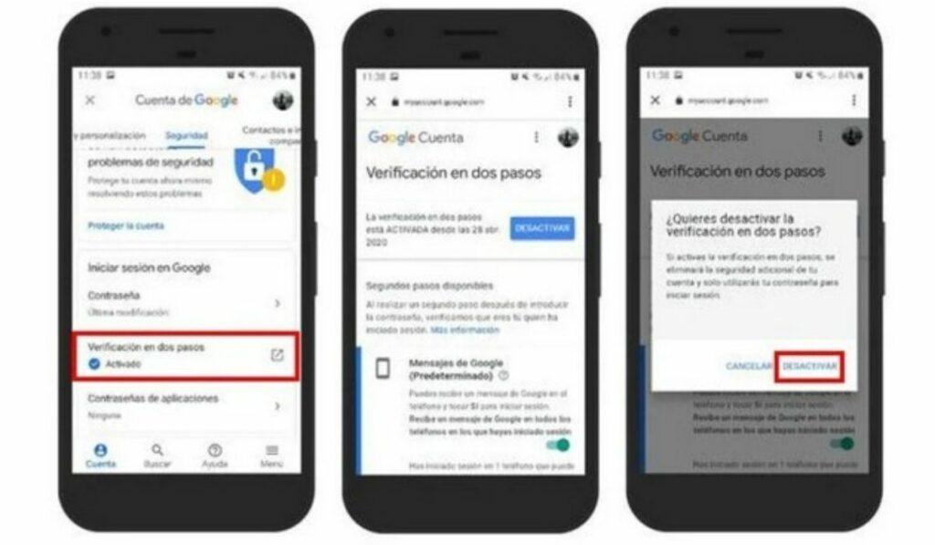 A2F en Google: La Autenticación de dos factores será habilitada en Google