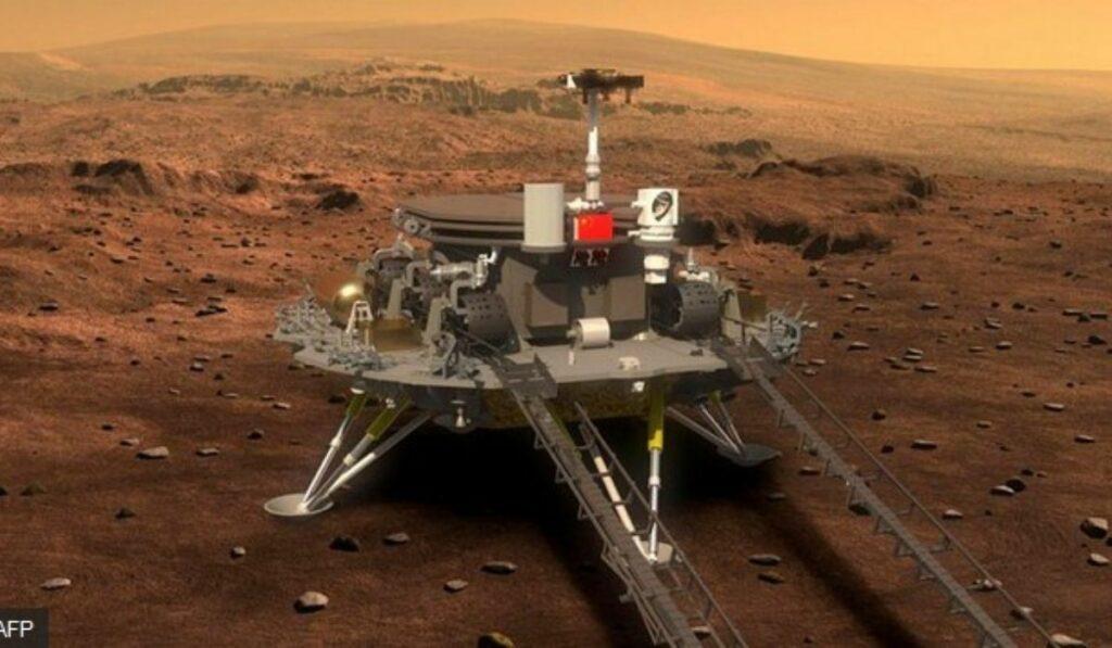 China también está en Marte con su robot Zhurong