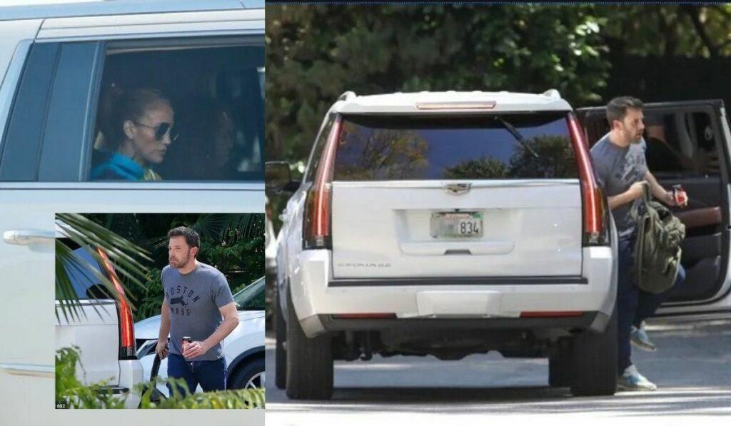 Jennifer López se recuesta en el regazo de su exnovio Ben Affleck