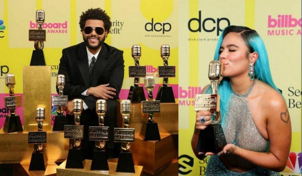 The Weeknd fue el máximo ganador de los Premios Billboard 2021