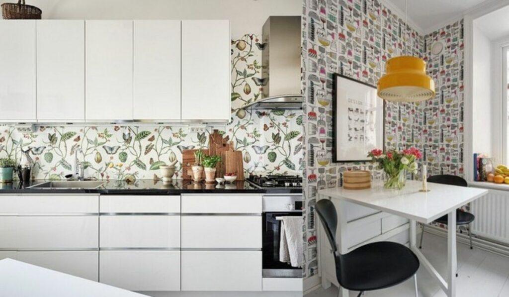 Papel pintado: Una nueva forma económica para decorar tu cocina