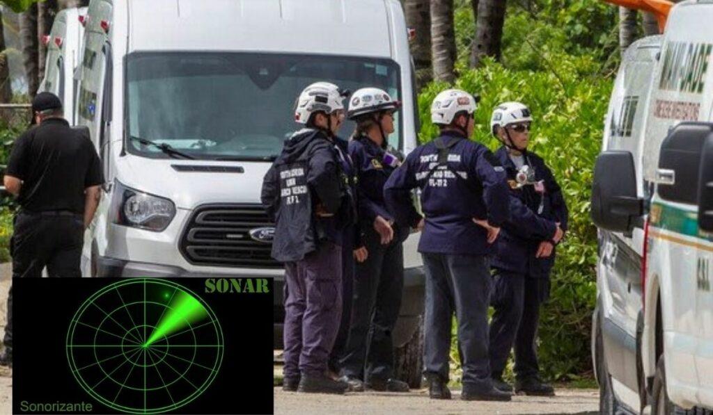Rescatistas usan aparatos tecnológicos en edificio de Surfside Miami