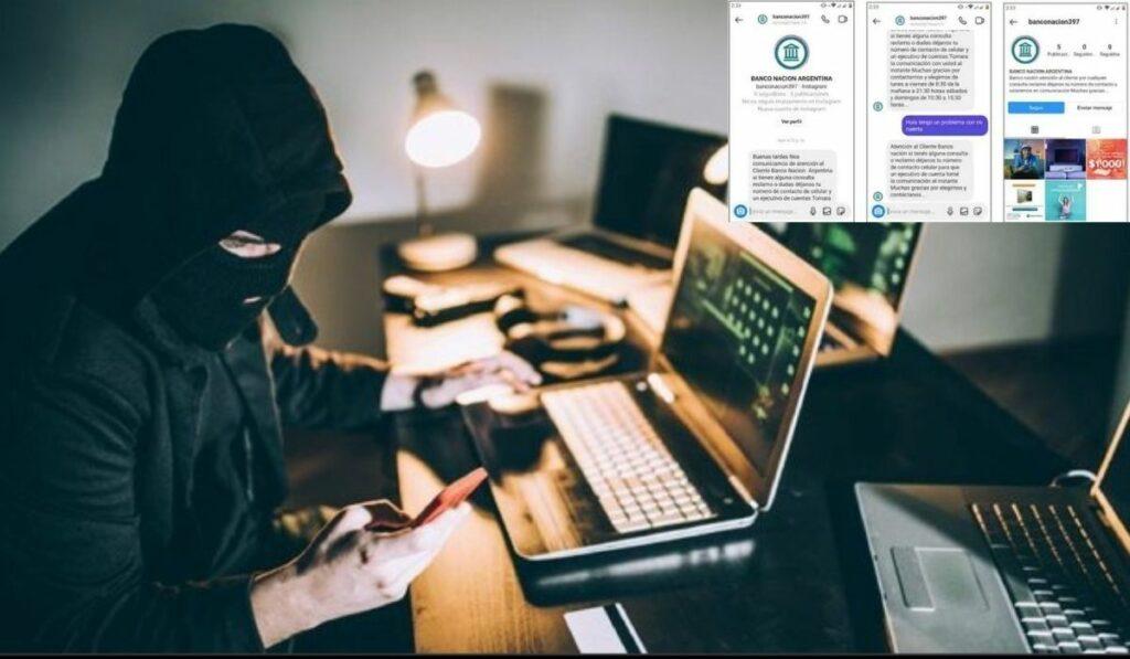 Homebanking: Ciberestafadores usan perfiles falsos de bancos en Instagram para robar
