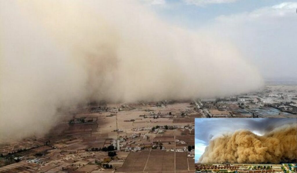 Pueblos se vieron afectados por una inmensa tormenta de arena en China