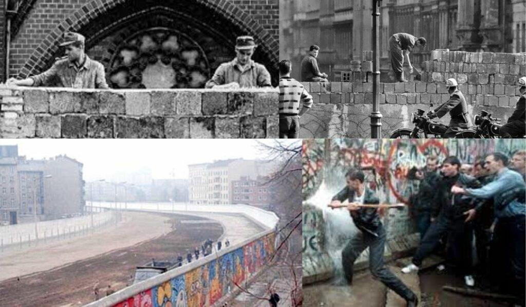 60 años del levantamiento del muro de Berlín y su posterior caída en 1989