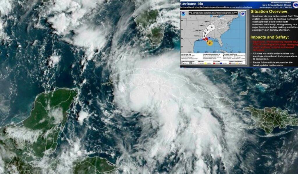 EEUU espera la llegada del huracán Ida el domingo en categoria 4