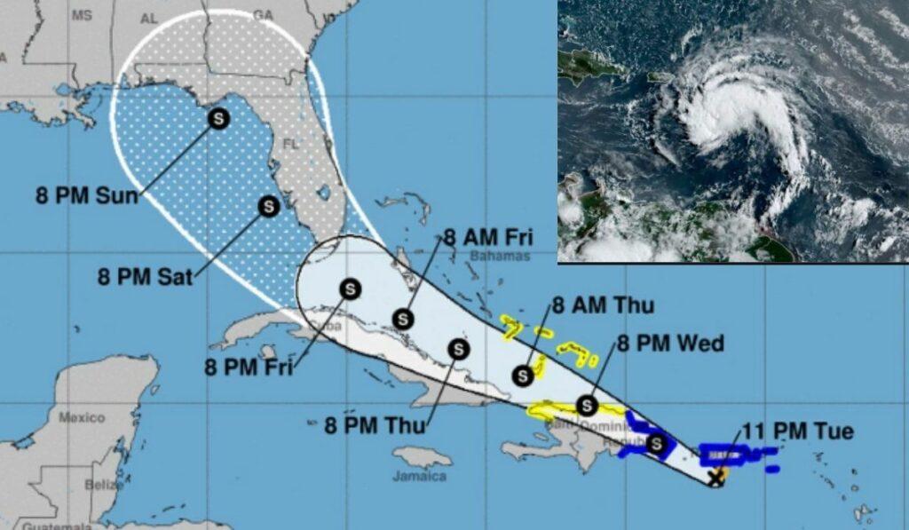 Tormenta Fred pasó por República Dominicana se degrado en depresión tropical